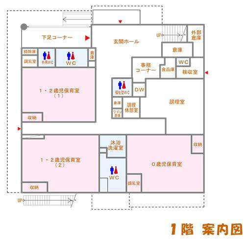 あさひ保育園1F平面図